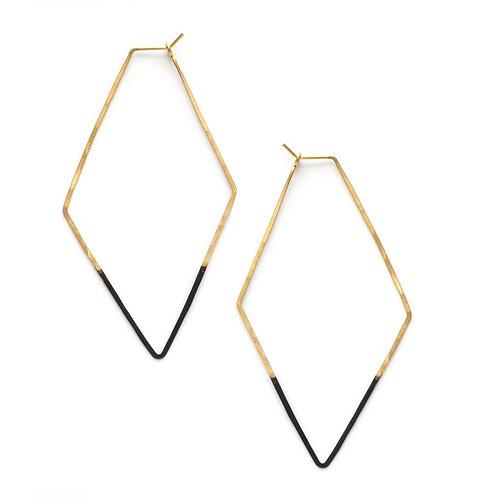 Mired Metal Rhombus Earrings