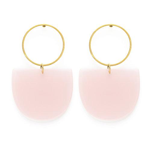 Mod Earrings - Rose Quartz