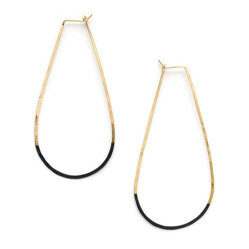 Mired Metal Teardrop Earrings