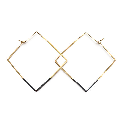 Mired Metal Hoops- Square