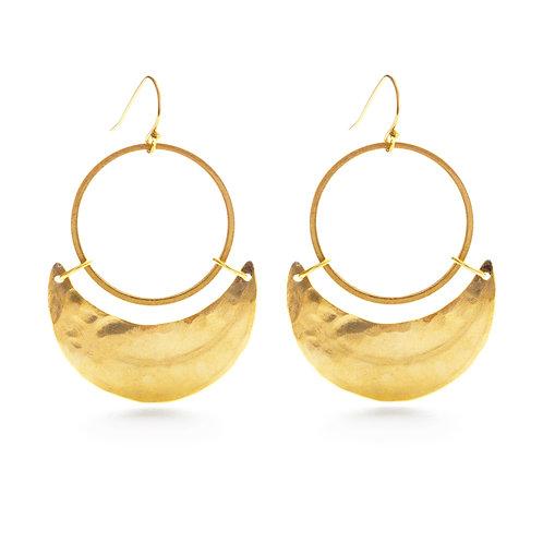 Crescent Moon Earrings- E068CM