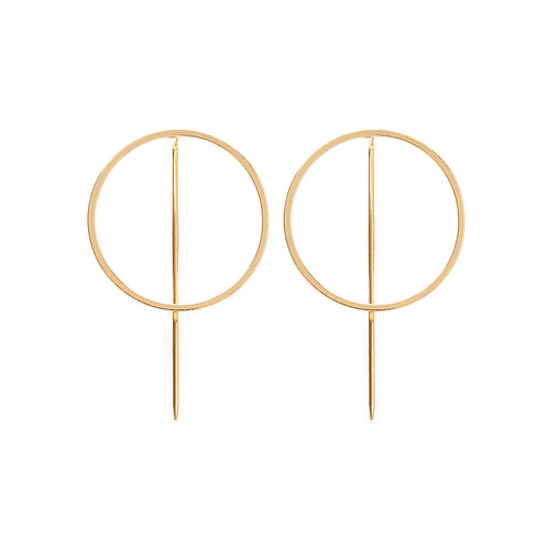 Circle + Line Earrings