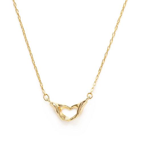 Heart Hands Necklace