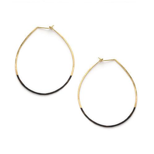 Mired Metal Circle Earrings
