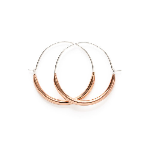 Rose Gold Tube Hoops- Small