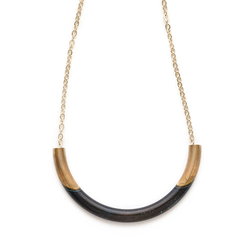 Mired Metal Tube Necklace