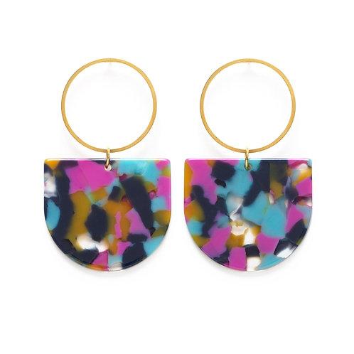 Mod Earrings- Mixed Color