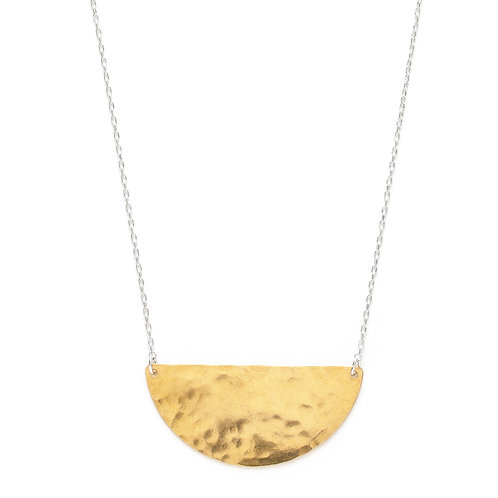 Mixed Metal Semicircle Necklace- Large
