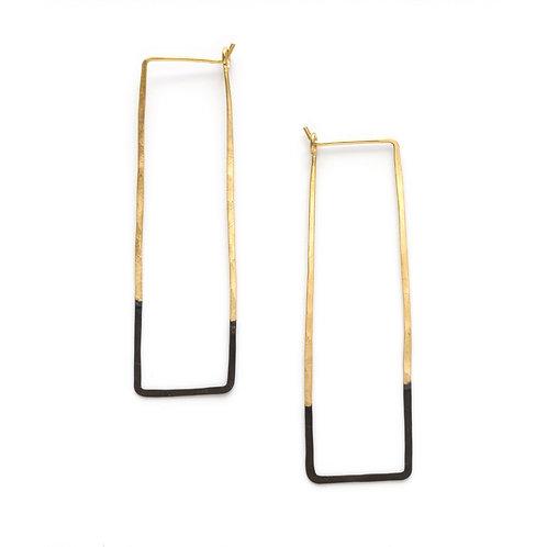 Mired Metal Rectangle Earrings