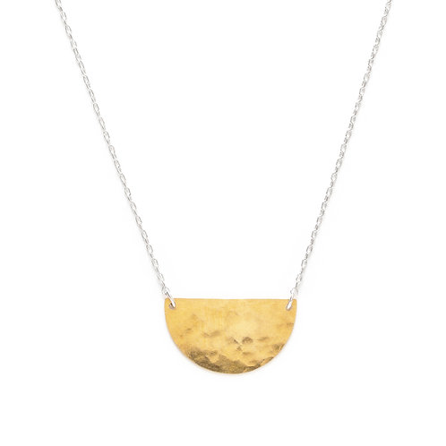 Mixed Metal Semicircle Necklace- Small
