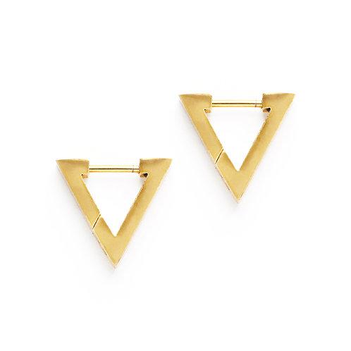 Triangle Huggie Hoops