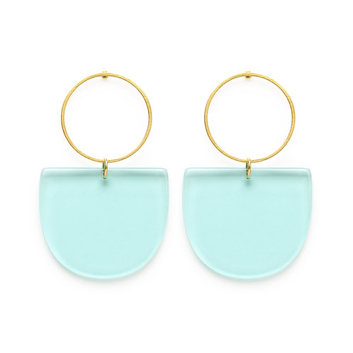 Mod Earrings - Blue