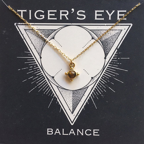Tiger's Eye - Gemstone Powers Necklace