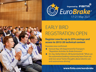 Regulations and rail industry to feature in EuroBrake 2021 keynotes