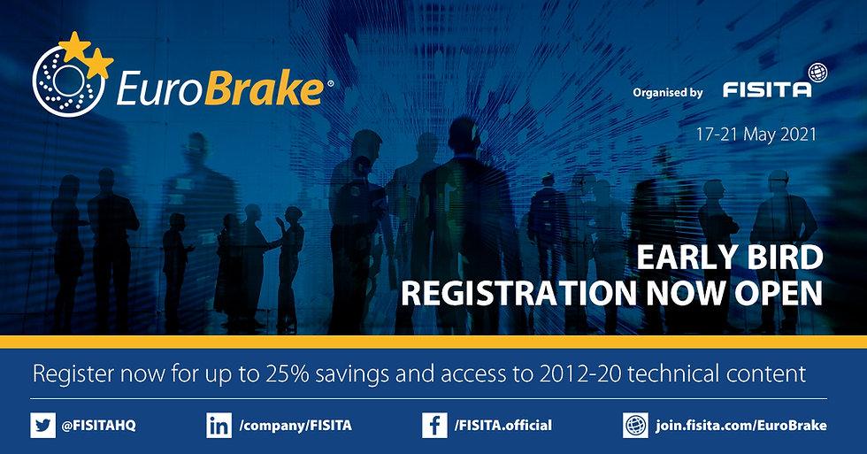 Register now for EuroBrake 2021 and gain access to nine years of technical content
