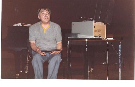 1986, deuxième rencontre internationale de la clarinette