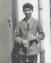 A 13 ans avec sa clarinette