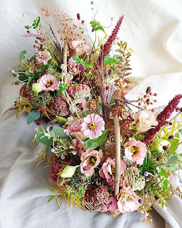 Happy wedding!!_ご両親様への花籠2019_🍁秋のお花たっぷり!