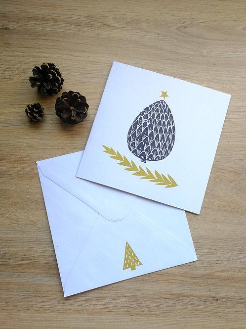 "Carte Noël pomme de ""sa""pin"