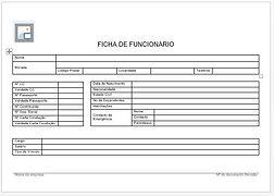 Ficha de Funcionário formulário