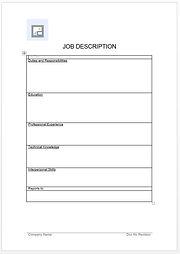 Job Descriptions Form