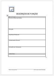 Descrição da Função Formulário