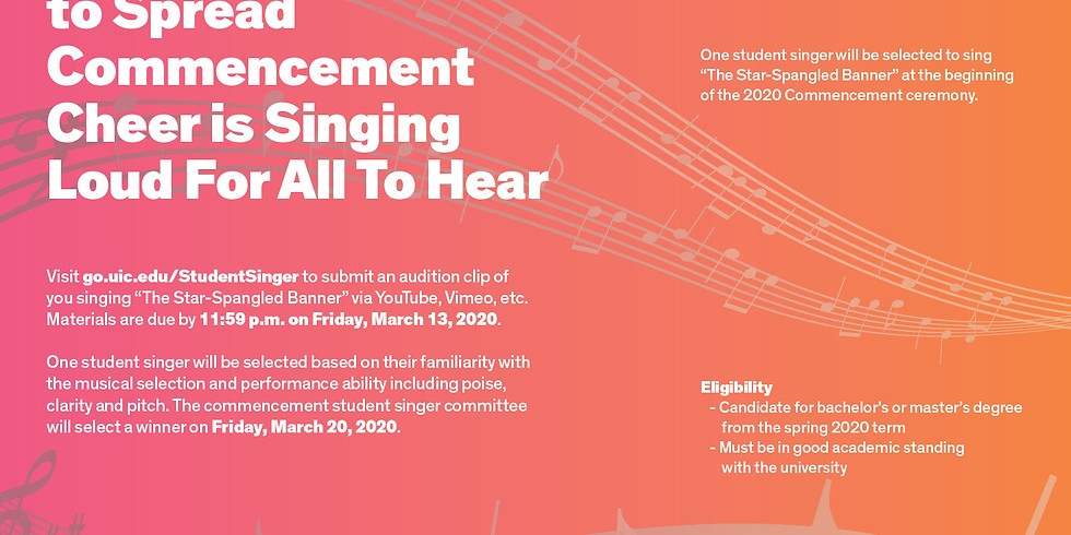 Commencement Student Singer Competition