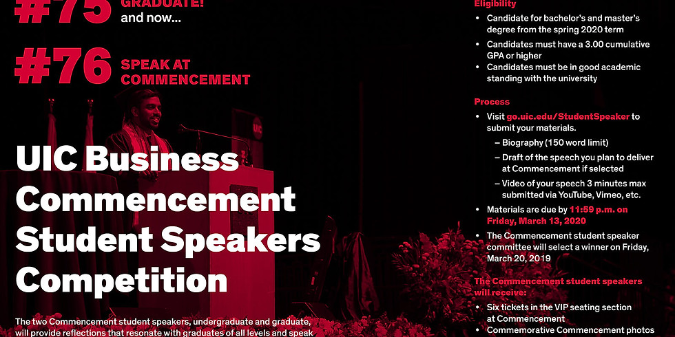 Commencement Student Speaker Competition