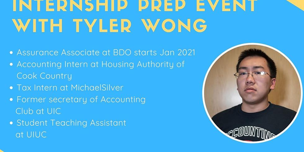 Internship Prep Event with Tyler Wong