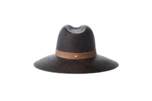 Leather ribbon hat