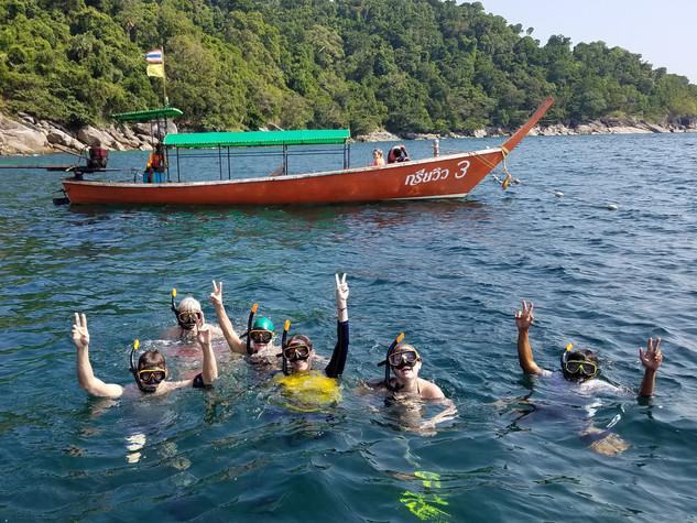 snorkeling at Surin Island