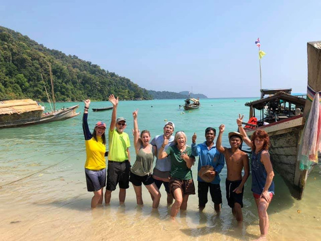 Our family group on Surin Island