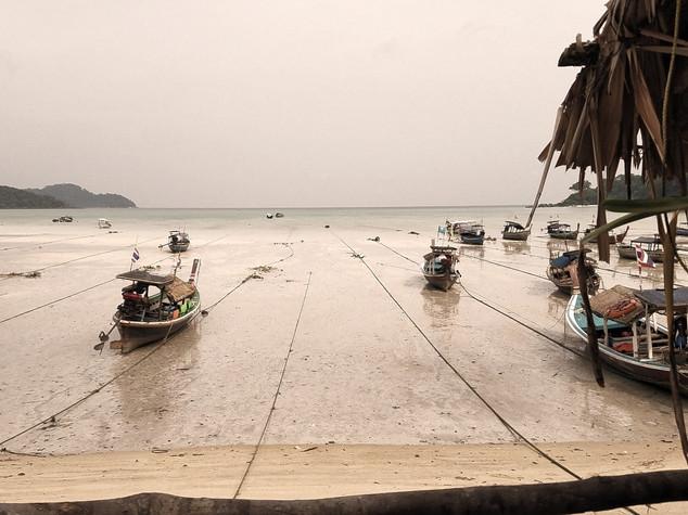 Moken village at low tide