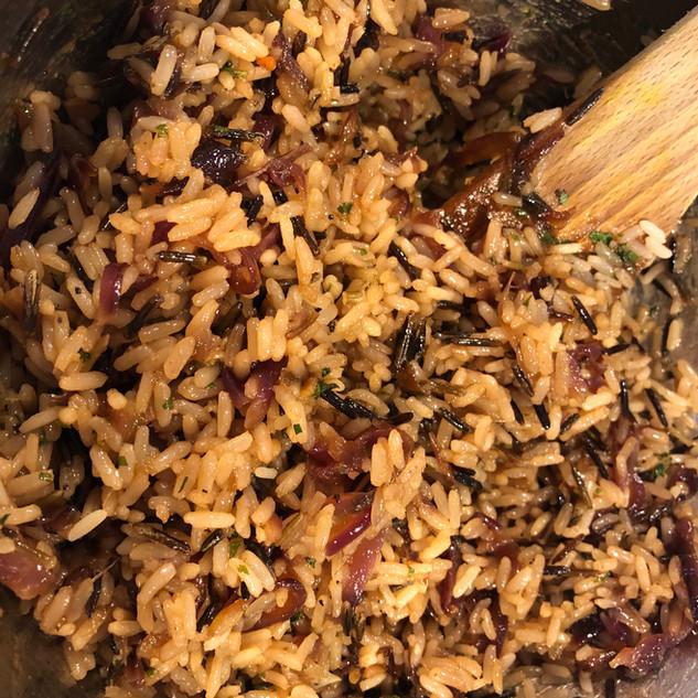 Caramalised Red Onion Wild Rice
