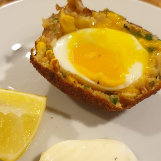 Curried Smoked Haddock Scotch Egg