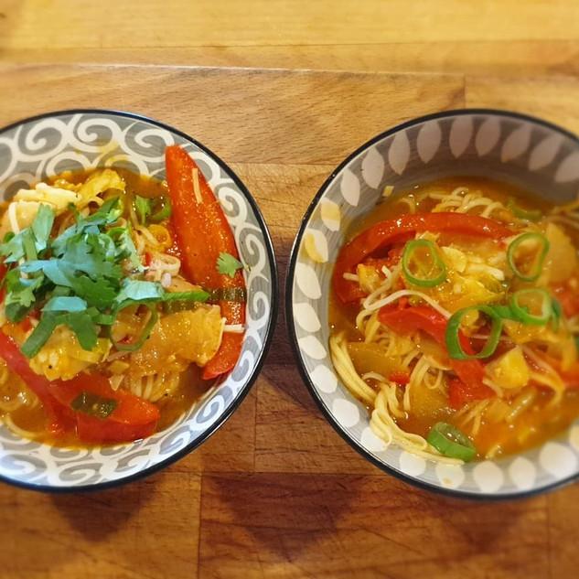 Thai Haddock Noodle Soup