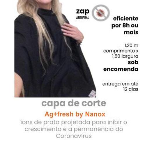 capa de corte cabeleireiro antiviral  Ag+fresh by Nanox