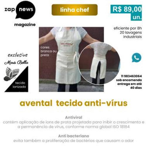 avental cozinha tecido antiviral