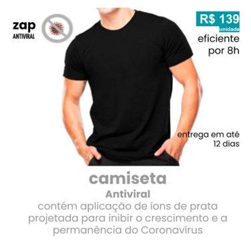 camiseta antiviral  tricoline com aplicação de Ag+fresh by Nanox