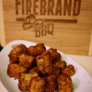 Hand-made tater tots