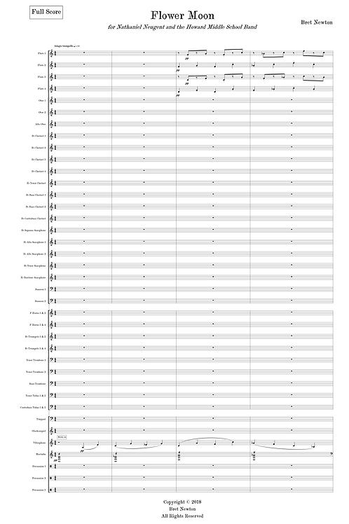 Flower Moon - for Wind Ensemble - Full Score