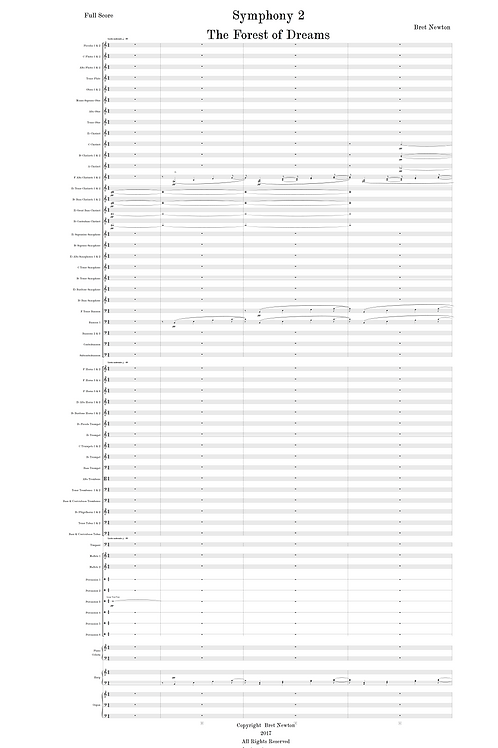 "Symphony 2 - ""The Forest of Dreams"" - Full Score"