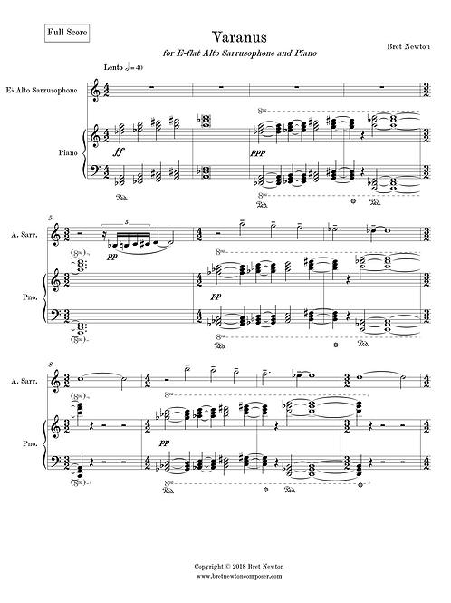 Varanus - for Alto Sarrusophone and Piano