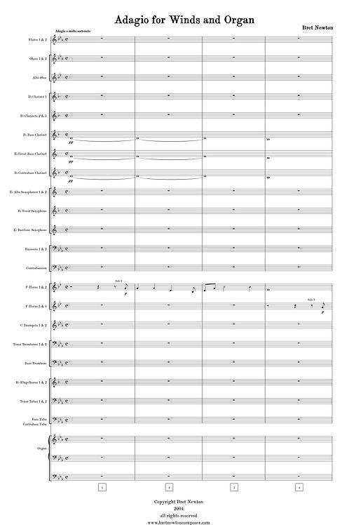 Adagio for Winds and Organ -full score