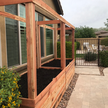 (2) 2-foot tall garden boxes with 4x4 posts