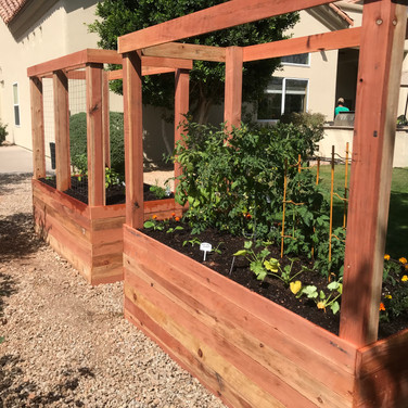 (2) 2-Foot Tall Beds with 4x4 Posts