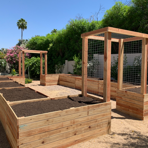 (10) 2-Foot Tall Garden Beds with (2) Arbors