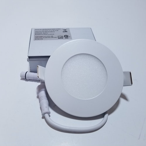 "6W 3"" White 4000K LED Panel Light Round White"