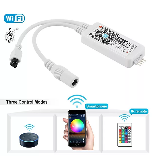 12-24V RGBW Smart WiFi Light Controller Google/Amazon Alexa Voice IOS/Android