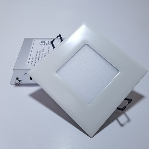 "10W 4"" Cool White 5000K Square LED Panel Light White"
